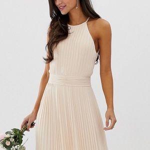 f66cb9a30ea New petite TFNC bridesmaid pearl pink maxi dress